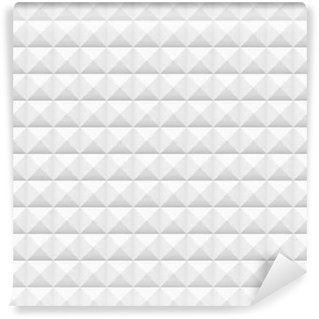 Vinil Duvar Resmi Beyaz fayans, meydanlar, vektör çizim, seamless pattern