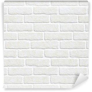 Vinil Duvar Resmi Beyaz tuğla duvar arka plan