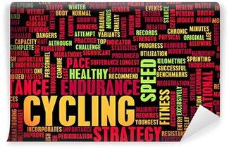 Vinil Duvar Resmi Bisiklet ve Motosiklet Sürme Sporu