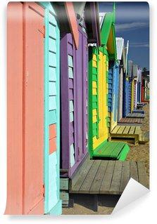 Vinil Duvar Resmi Brighton Beach Banyo kutuları