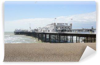Vinil Duvar Resmi Brighton İskelesi ve plaj. İngiltere