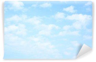 Vinil Duvar Resmi Bulutlar Açık mavi gökyüzü