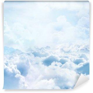 Vinil Duvar Resmi Bulutların üzerinde