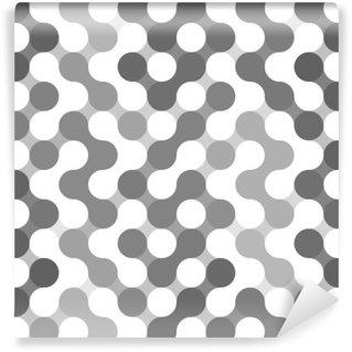 Vinil Duvar Resmi Çemberlerin Vektör geometrik desen.