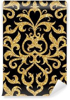 Vinil Duvar Resmi Çiçek altın duvar kağıdı