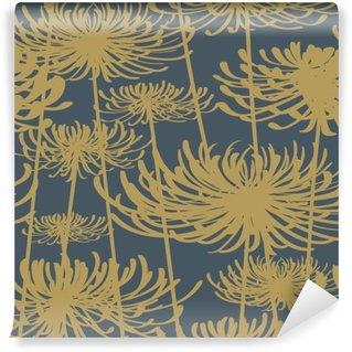 Vinil Duvar Resmi Çiçek seamless pattern vintage stili