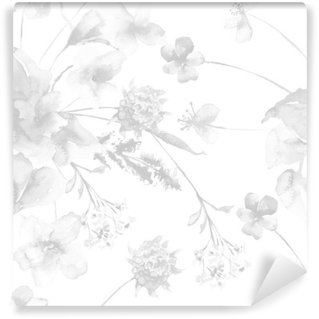 Vinil Duvar Resmi Çiçekler ile Seamless pattern
