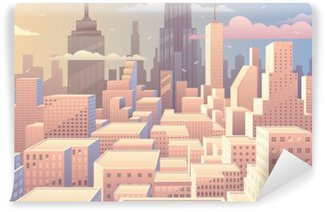 Vinil Duvar Resmi Cityscape Sunrise