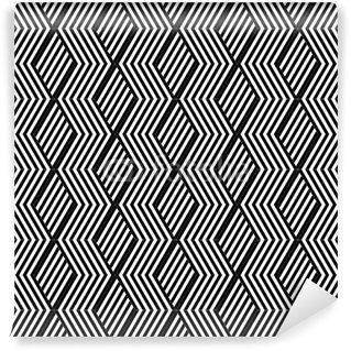 Vinil Duvar Resmi Çizgili doku ile sorunsuz geometrik desen.