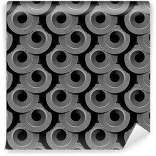 Vinil Duvar Resmi Daire spiral elemanları ile Desen. Dikişsiz doku.