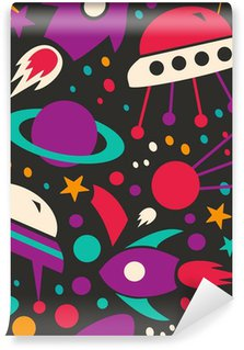 Vinil Duvar Resmi Dikişsiz kontrast kozmik desen