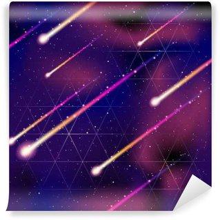 Vinil Duvar Resmi Dikişsiz meteor yağmuru arka plan