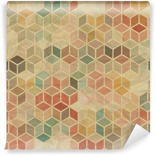 Vinil Duvar Resmi Dikişsiz retro, geometrik desen.
