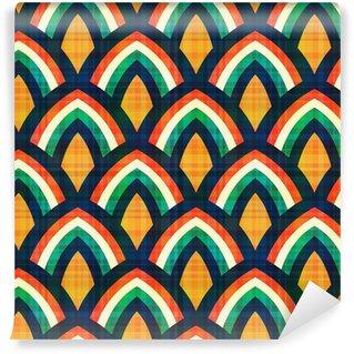 Vinil Duvar Resmi Dikişsiz soyut geometrik desen