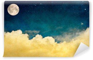 Vinil Duvar Resmi Dolunay ve Cloudscape
