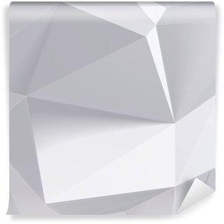 Vinil Duvar Resmi Düşük çokgen geometri şekli. vektör çizim