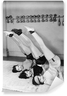 Vinil Duvar Resmi Egzersiz Üç kadın