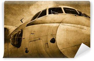 Vinil Duvar Resmi Eski askeri uçak