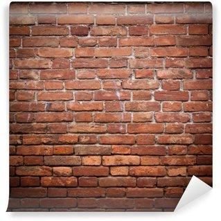 Vinil Duvar Resmi Eski grunge kırmızı tuğla duvar dokusu