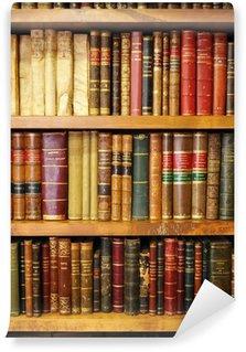 Vinil Duvar Resmi Eski kitaplar, kütüphane