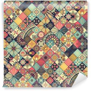 Vinil Duvar Resmi Etnik floral seamless pattern