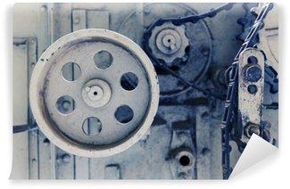 Vinil Duvar Resmi Fabrikada eski makine mekanizması