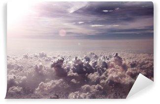 Vinil Duvar Resmi Fondó de nubes y puesta de sol
