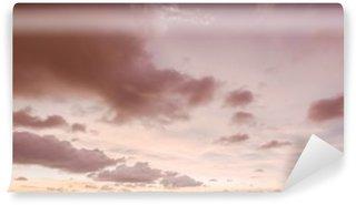 Vinil Duvar Resmi Gökyüzü ve bulutlar akşam