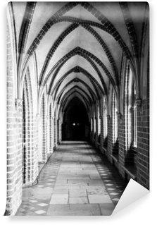 Vinil Duvar Resmi Gotik kaburga tonoz tavanlı cloister