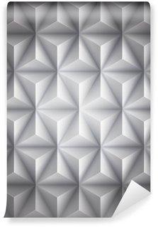 Vinil Duvar Resmi Gri Geometrik soyut düşük poli kağıt arka plan. Vektör