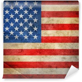 Vinil Duvar Resmi Grunge ABD Bayrağı