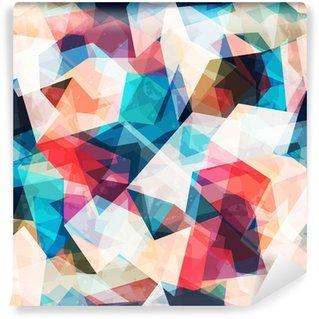 Vinil Duvar Resmi Grunge etkisi ile renkli mozaik seamless pattern
