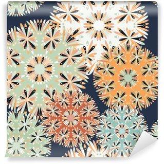 Vinil Duvar Resmi Güzel seamless pattern. dekoratif unsurlar vektör çizim