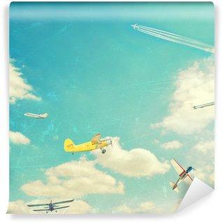 Vinil Duvar Resmi Havacılık arka plan