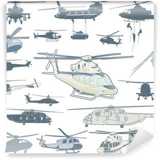 Vinil Duvar Resmi Helikopterler vektör toplama