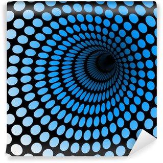 Vinil Duvar Resmi Hi-tech mavi tünel, teknoloji duvar kağıdı, arka plan