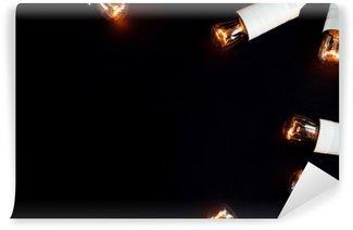 Vinil Duvar Resmi Inanılmaz güzel eşsiz yılbaşı altın bağbozumu çelenk ışıklar