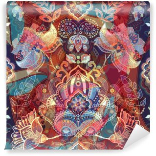 Vinil Duvar Resmi Işık renkli dikişsiz desen