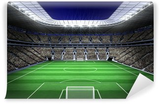 Vinil Duvar Resmi Işıkları ile Büyük futbol stadyumu