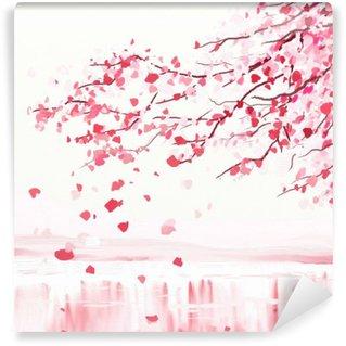 Vinil Duvar Resmi Japon kiraz ağacı