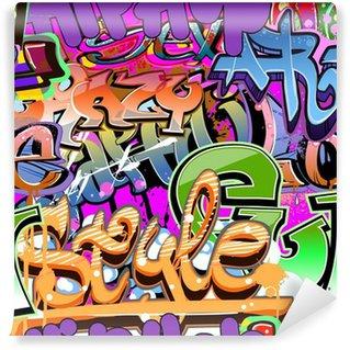 Vinil Duvar Resmi Kentsel Sanat. Grunge grafiti hip-hop tasarımı