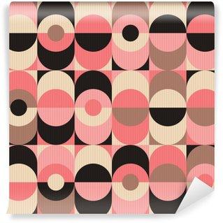 Vinil Duvar Resmi Kesintisiz bağbozumu geometrik desen