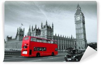 Vinil Duvar Resmi Londra'da Otobüs