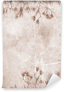 Vinil Duvar Resmi Manolya vintage paper