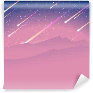 Vinil Duvar Resmi Meteor yağmuru arka plan
