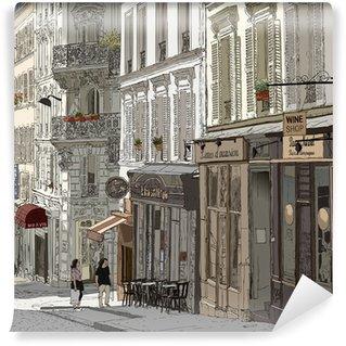 Vinil Duvar Resmi Montmartre Sokak