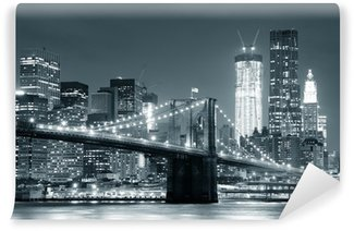 Vinil Duvar Resmi New York Brooklyn Köprüsü