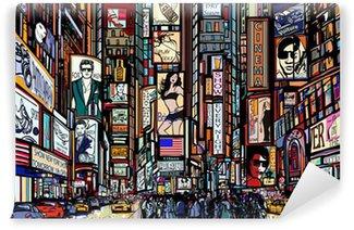 Vinil Duvar Resmi New York kentinde sokak