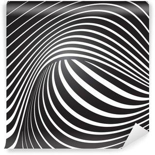 Vinil Duvar Resmi Optik etki vector background