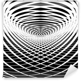 Vinil Duvar Resmi Optik yanılsama arka plan.